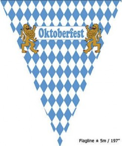 Bandierine Oktoberfest 5 mt
