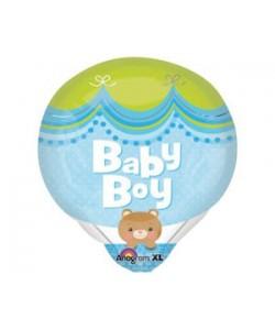 Foil Mongolfiera Baby Boy 45x40cm