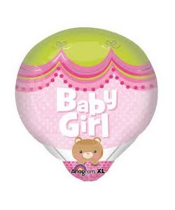 Foil Mongolfiera Baby Girl 45x50cm