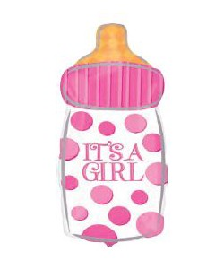 It's a Girl Baby Bottle 25x58cm