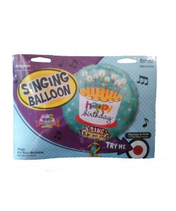 Pallone foil musicale Happy Birthday 71 cm