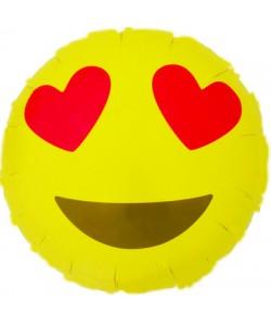 Foil Smile Occhi Cuore 46 cm