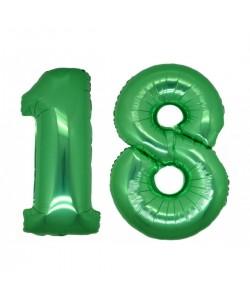 Foil Verde numero 18 h 100 cm