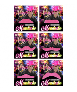 Baffi Neon Rosa (adesivi)