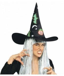 Cappello Strega con Decorazioni Fosforescenti