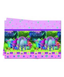 Tovaglia plastica 120 x 180 cm Trolls 1 pz