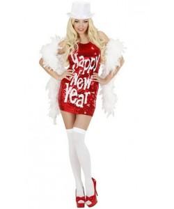 Vestito Pailettes Happy New Year