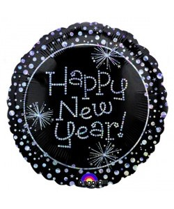 Foil Happy New Year 45cm
