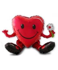 Foil Sitting Smiley Heart Guy