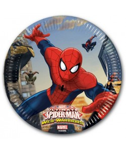 Piatto Ultimate Spiderman Web Warriors 8 pz 20 cm