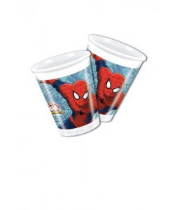 Bicchiere plastica Ultimate Spiderman Web Warriors 8 pz 200 ml