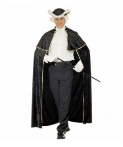 Mantello Veneziano con Jabot (in velluto 142 cm)