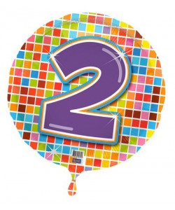 Pallone foil Nr 2 Quadratini 45 cm
