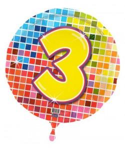 Pallone foil Nr 3 Quadratini 45 cm