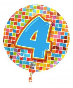 Pallone foil Nr 4 Quadratini 45 cm