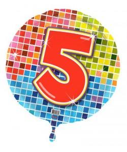 Pallone foil Nr 5 Quadratini 45 cm