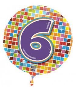 Pallone foil Nr 6 Quadratini 45 cm