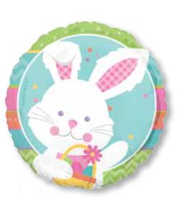 Pallone foil Coniglio Happy Hop 43 cm