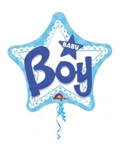 Pallone foil Multi-Balloon  81 cm Celebrate Baby Boy 1 pz