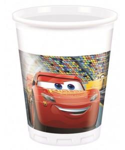Bicchiere plastica 200 ml Cars 3 8 pz