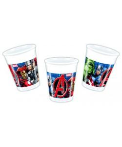 Bicchiere plastica 200 ml Avengers Power 8 pz