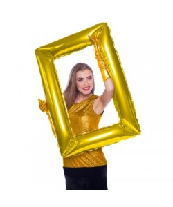 Pallone foil Supershape 85 x 60 cm Cornice Photo Booth oro 1 pz