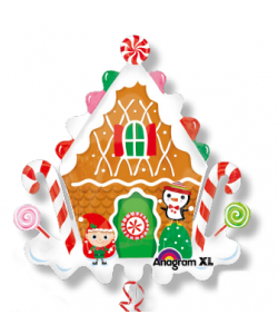 Gingerbread House SuperShape 71 x 76 cm