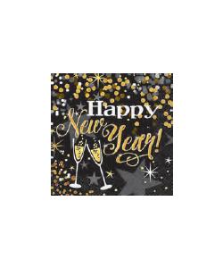 Tovagliolo Carta Happy New Year 16 pz