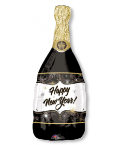 Foil Bottiglia Happy New Year 36x91cm