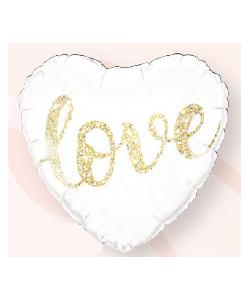 Foil Love Glitter Gold 46cm