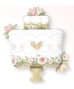 Foil Glitter Gold Wedding Cake 90cm