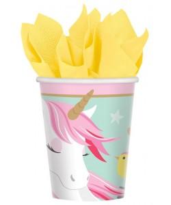 Bicchiere carta Magical Unicorn 266 ml 8pz
