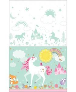 Tovaglia plastica Magical Unicorn 137x259 cm 1pz