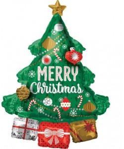 Pallone foil Multi 94 x 86 cm Christmas Tree 1 pz