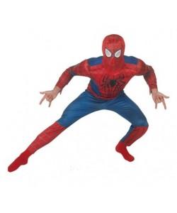 Spiderman (tuta con muscoli, maschera)