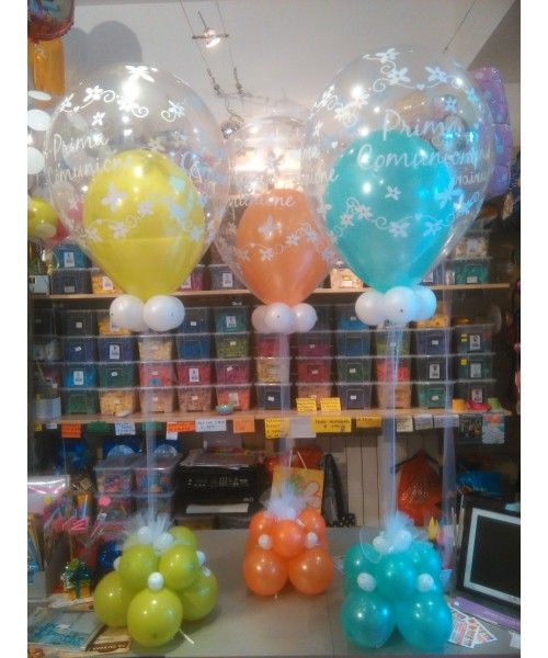 Composizione palloncini comunione divertifeste - Composizione palloncini da tavolo ...