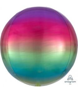 Pallone foil Ombré ORBZ 38 x 40 cm Arcobaleno Rainbow 1 pz