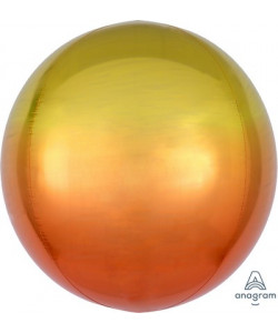Pallone foil Ombré ORBZ 38 x 40 cm Giallo e Arancio 1 pz