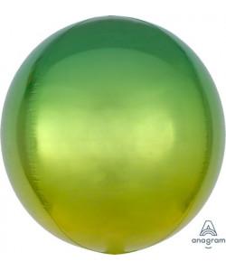 Pallone foil Ombré ORBZ 38 x 40 cm Giallo e Verde 1 pz