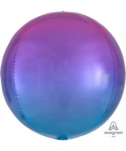 Pallone foil Ombré ORBZ 38 x 40 cm Rosso e Blu 1 pz