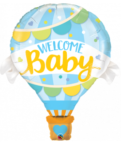Foil Mongolfoera welcome baby azz