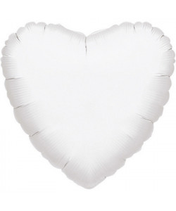 Pallone foil Cuore Bianco 42 cm 1 pz