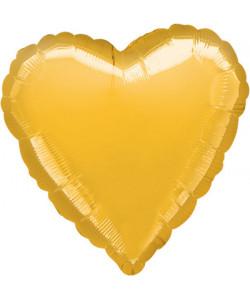 Pallone foil Cuore Oro 42 cm 1 pz