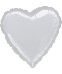 Pallone foil Cuore Argento 42 cm 1 pz