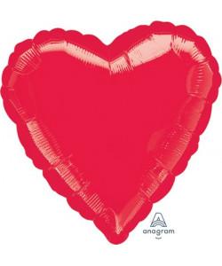 Pallone foil Cuore Rosso 42 cm 1 pz