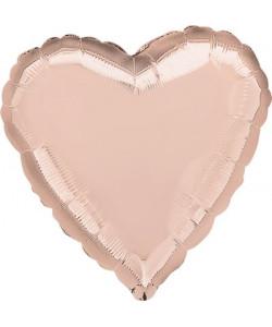 Pallone foil Cuore Rose Gold 42 cm 1 pz