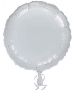 Pallone foil Tondo Argento  42 cm 1 pz