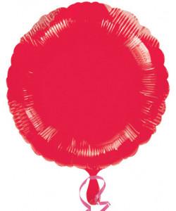 Pallone foil Tondo Rosso 42 cm 1 pz