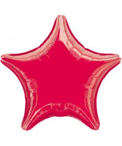 Pallone foil Stella Rossa 1 pz  42 cm