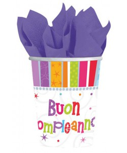 Bicchiere Buon Compleanno Radiant 8 pz 266ml